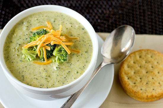 Easy Broccoli Cheese Soup | browneyedbaker.com