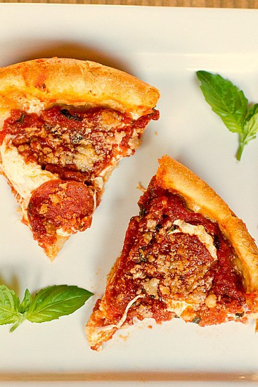 Chicago-Style Deep-Dish Pizza | Brown Eyed Baker