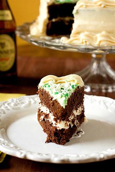 Chocolate Stout Cake with Irish Cream Frosting
