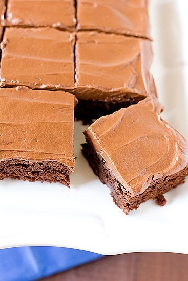 Chocolate Fudge Brownies with Chocolate Buttercream Frosting | Brown ...