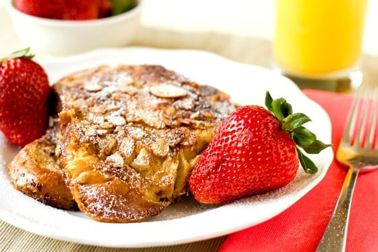 Cinnamon-Almond French Toast Recipe | Brown Eyed Baker