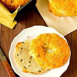 Jalapeno Cheddar Bagels