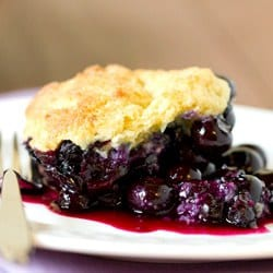 Fresh Blueberry Cobbler With Biscuit Topping Recipes — Dishmaps