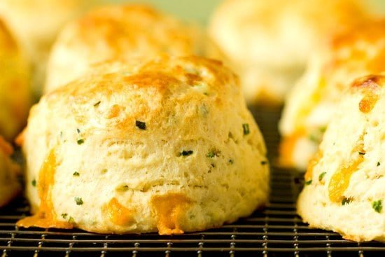 Cheddar Scallion Scones With Jalapeno Agave Butter Recipes ...