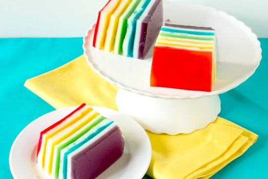 Rainbow Ribbon Jello - A gorgeous dessert and one of my grandma's signature recipes!