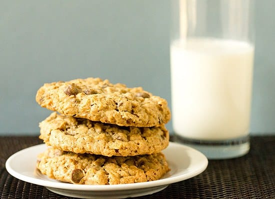 Salted Espresso Oatmeal Chocolate Chip Cookies   Brown Eyed Baker