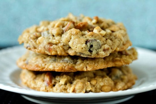 Malted Milk Chocolate Chip, Peanut & Pretzel Oatmeal Cookies | Brown ...