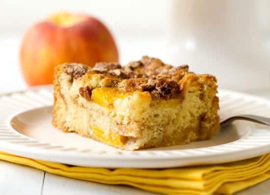 Peaches And Cream Coffee Cake Recipe