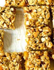 Ginger-Peach Granola Squares