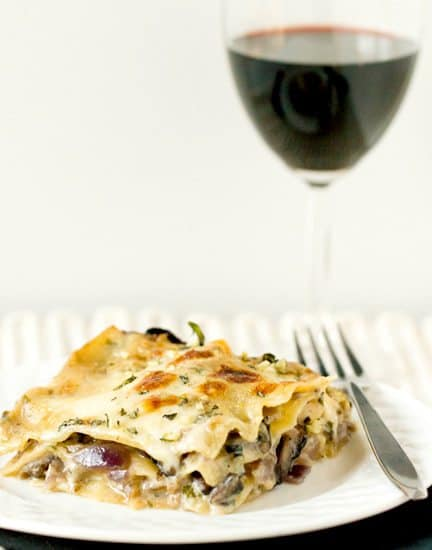 Mushroom lasagna recipe brown eyed baker for Different kinds of lasagna recipes