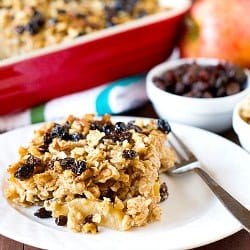 Apple Cinnamon-Raisin &amp; Walnut Baked Oatmeal