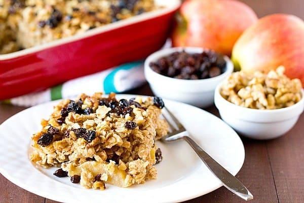 Apple Raisin & Walnut Baked Oatmeal