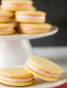 Pink Grapefruit Sandwich Cookies