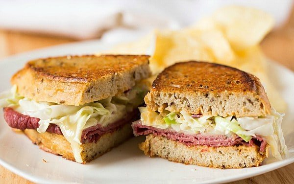 Reuben Sandwich, made with Jewish Rye Bread