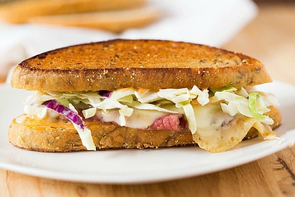Reuben sandwich, made from Jewish Rye Bread