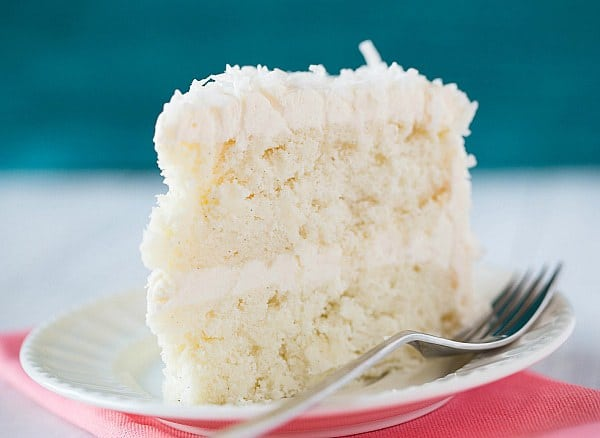 Coconut Cake with Coconut Meringue Buttercream Frosting