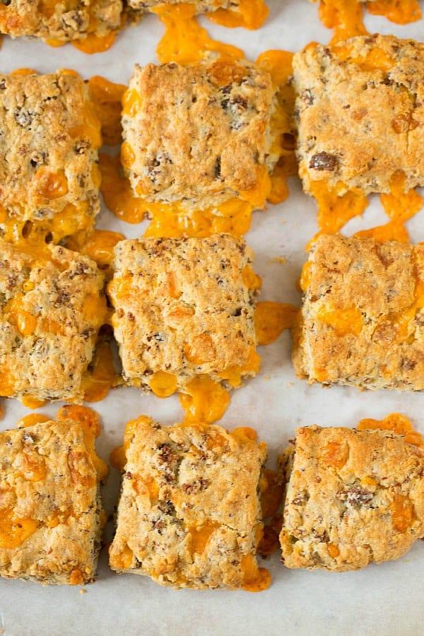 Sausage-Cheddar Biscuits