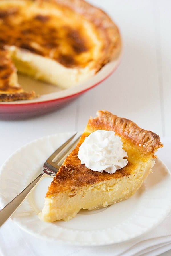 Buttermilk Pie Recipe | Brown Eyed Baker