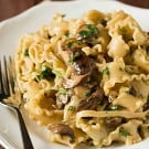 Creamy Mushroom-Fontina Pasta