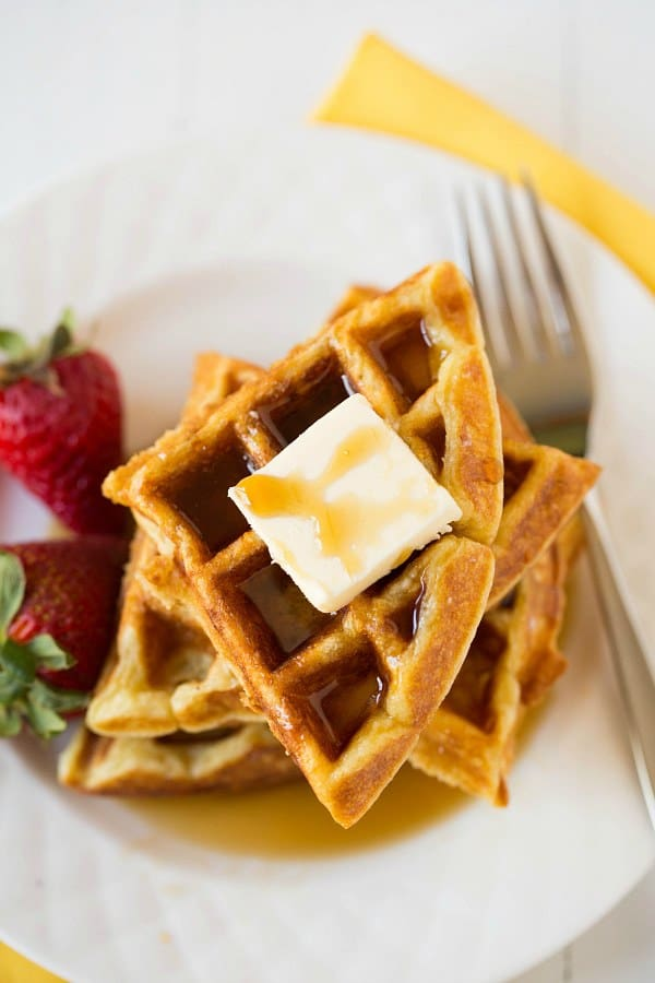 buttermilk and brown butter waffles recipes dishmaps waffles brown ...