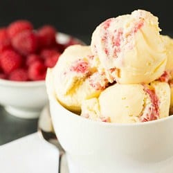 White Chocolate Raspberry Swirl Ice Cream