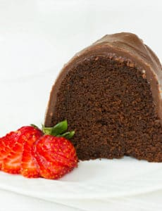 Chocolate Bundt Cake with Chocolate Fudge Icing