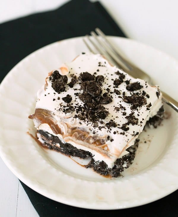 Layered Ice Cream Cake With Oreo Crust