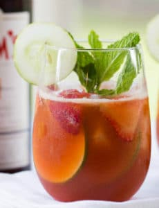 Strawberry Pimm's Cup Cocktail
