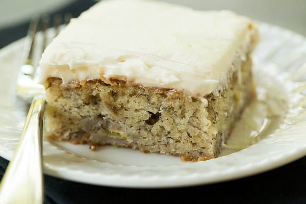 Banana Cake Recipes With Cream Cheese Icing