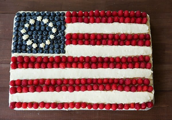 Flag Cake (From Scratch!) on Brown Eyed Baker :: www.browneyedbaker ...
