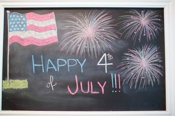 4th of July chalkboard fun