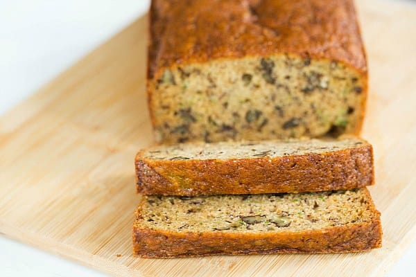 Zucchini-Banana Bread Recipe by @browneyedbaker :: www.browneyedbaker.com