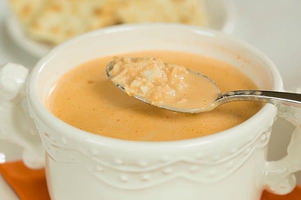 Crab Bisque Recipe by @browneyedbaker :: www.browneyedbaker.com