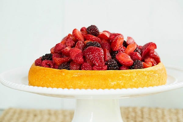 Ricotta Cake with Mixed Berries by @browneyedbaker :: www.browneyedbaker.com