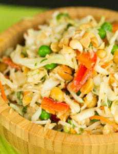 Thai Peanut Cabbage Slaw
