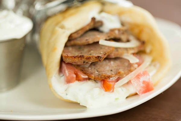 Greek Lamb Gyros with Tzatziki Sauce by @browneyedbaker :: www ...