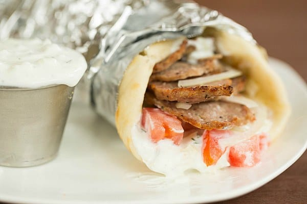 Greek Lamb Gyros with Tzatziki Sauce by @browneyedbaker :: www.browneyedbaker.com