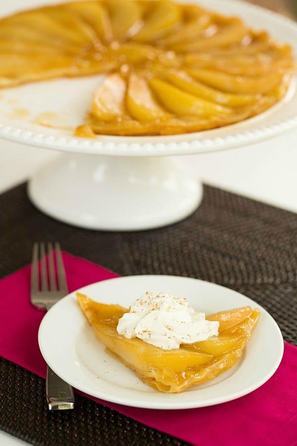 Caramelized Pear Tart by @browneyedbaker :: www.browneyedbaker.com