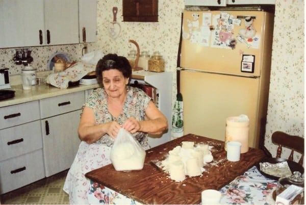 Grandma making gnocchi