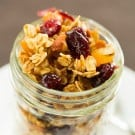 Maple-Almond Granola with Dried Fruit