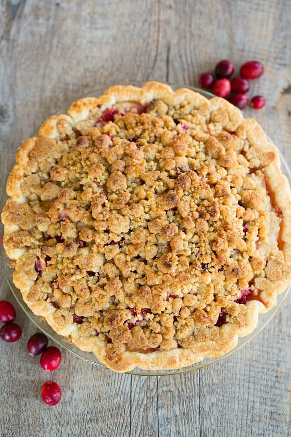Cranberry-Ginger Pear Pie by @browneyedbaker :: www.browneyedbaker.com