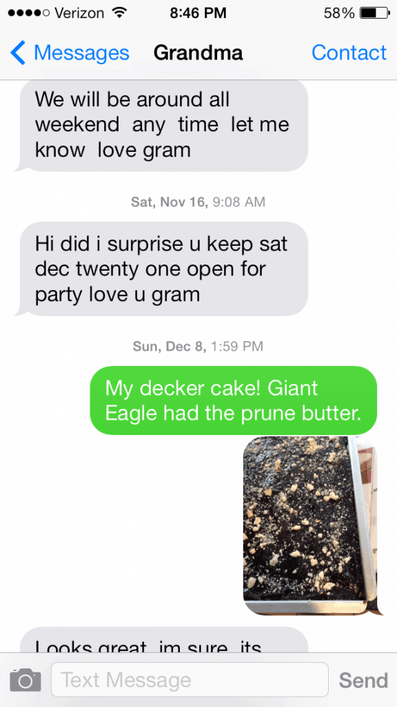Texting with Grandma