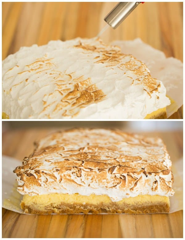 Sky-High Lemon Meringue Bars by @browneyedbaker :: www.browneyedbaker.com