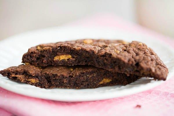 Enormous Peanut Butter Cup Chocolate Cookies by @browneyedbaker :: www.browneyedbaker.com