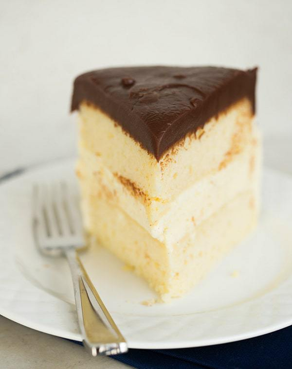 Double Vanilla Ice Cream Cake | browneyedbaker.com #recipe
