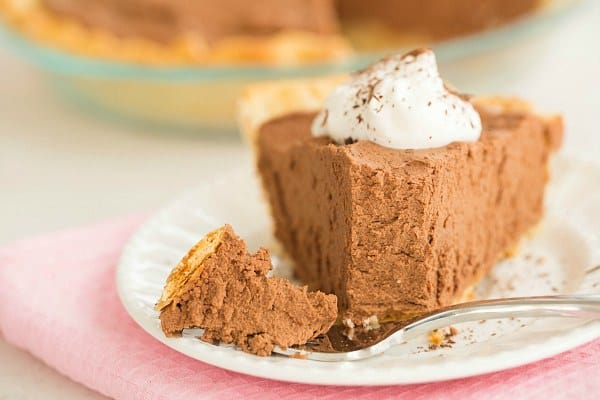 French Silk Chocolate Pie | browneyedbaker.com #recipe