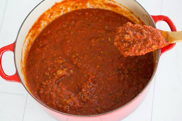 The BEST Meat Sauce. EVER. | browneyedbaker.com #recipe