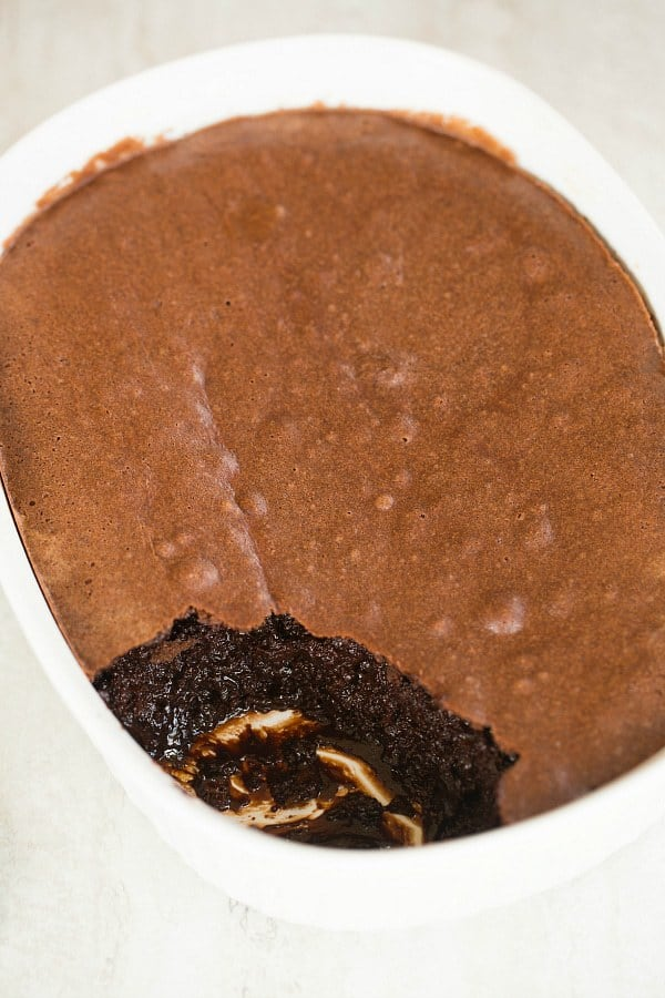 Brownie Pudding | browneyedbaker.com #recipe