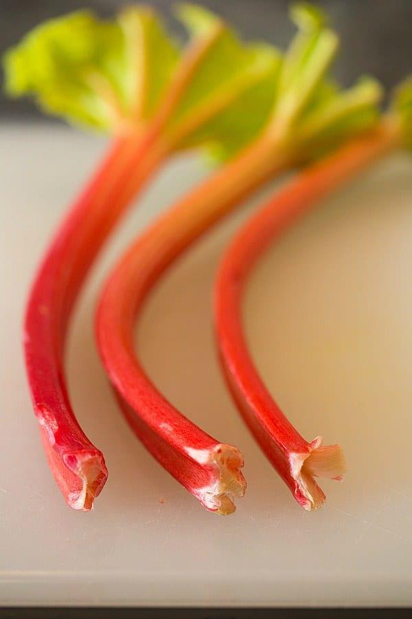Vanilla Bean Rhubarb-Ginger Scones | browneyedbaker.com