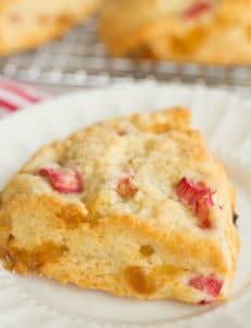 Vanilla Bean Rhubarb-Ginger Scones